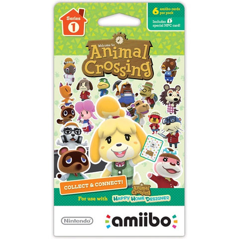 ANIMAL CROSSING AMIIBO CARDS SERIES 1 (6 Card Pack)