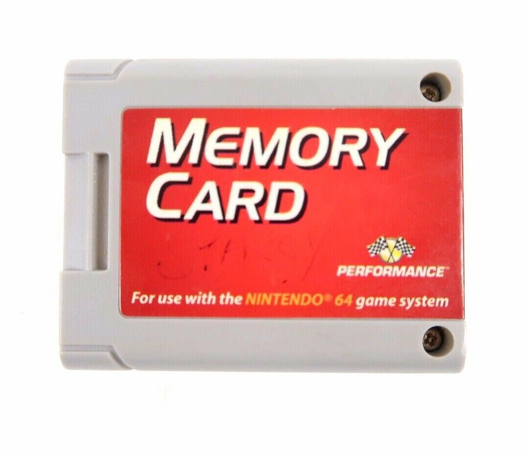 N64 Memory Card Performance Brand Controller Pack Expansion Nintendo Used