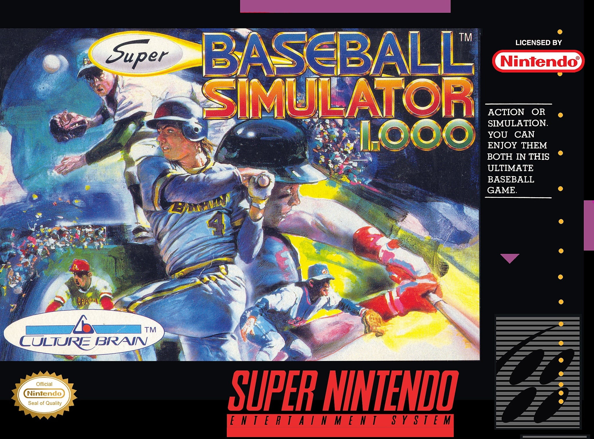 Super Baseball Simulator 1.000 - SNES (Pre-owned)