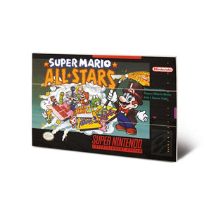 Super Mario All Stars SNES Game Cover Art 8″ x 12″ Wood Print