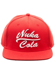 FALLOUT - Nuka Cola 3D Embroidered Snapback Cap Red