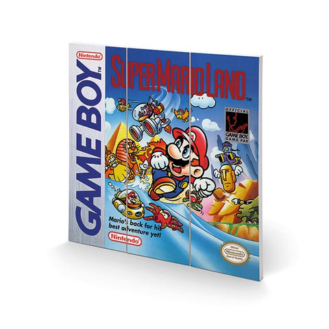 Super Mario Land Game Boy Cover 12″ x 12″ Wood Print