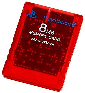 Playstation 2 Memory Card 8MB Official Used PS2 (Red)