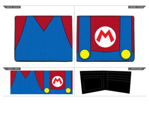 SUPER MARIO - Ballistic Nylon Mario suit Up Biflold Wallet