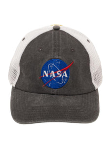 BUZZ ALDRIN - NASA - Embroidery Logo Perform Mesh Black Snapback YOUTH