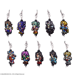 Square Enix Final Fantasy Dot Rubber Strap Vol. 2 (1 Sealed Box of 10 Character Straps)
