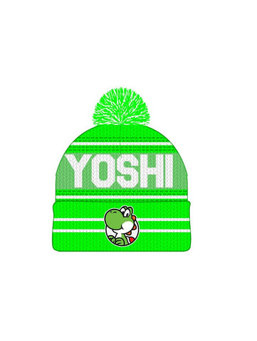 SUPER MARIO BROS - Green White Jrs Rolled Knit Yoshi