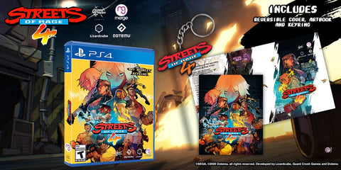 Streets of Rage 4 (Launch Edition with Keyring & Artbook) - PS4