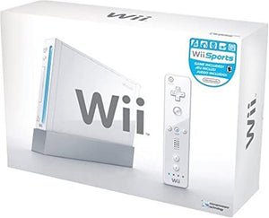 White Nintendo Wii System Console in Box (with gamecube ports)
