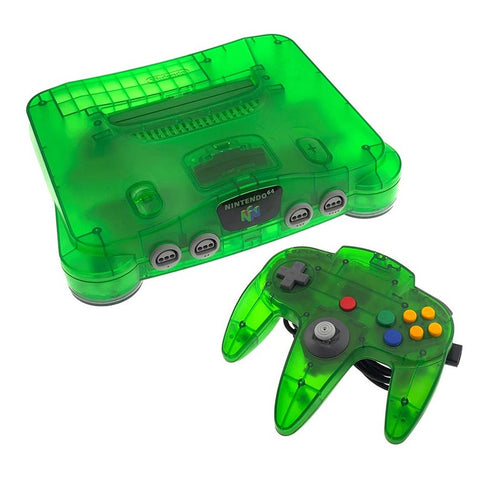 Nintendo 64 System Jungle Green Console N64