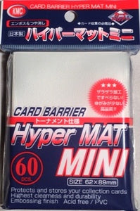 KMC Small Hyper Mat Sleeves Clear 80ct