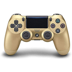 (Front Lit) DualShock 4 PlayStation 4 Controller Wireless Controller PS4 (Gold)