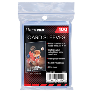 Ultra Pro Standard Penny Card Sleeves 100ct (Limit 10 Per Customer)
