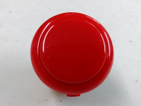 Sanwa Button Solid Colour OBSF-30mm Pushbutton (Red)