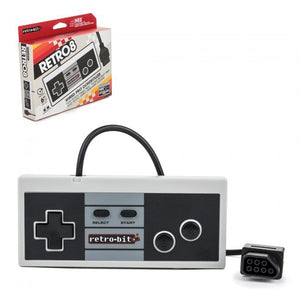 NES 8BIT GREY WIRED CTRL RETRO8 [RETRO-BIT]