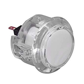 Sanwa Denshi OBSC-30 Translucent Clear 30mm Snap-in Push Button (Colourless)
