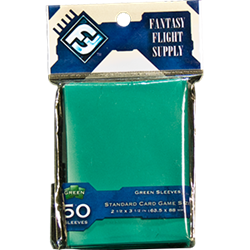 Fantasy Flight Standard Game Sleeves (50 Count) - Green