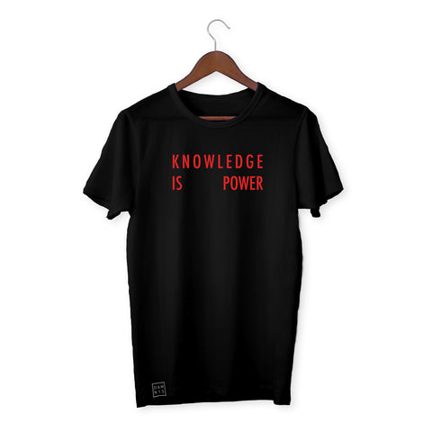 BLACK T-SHIRT / KNOWLEDGE IS POWER