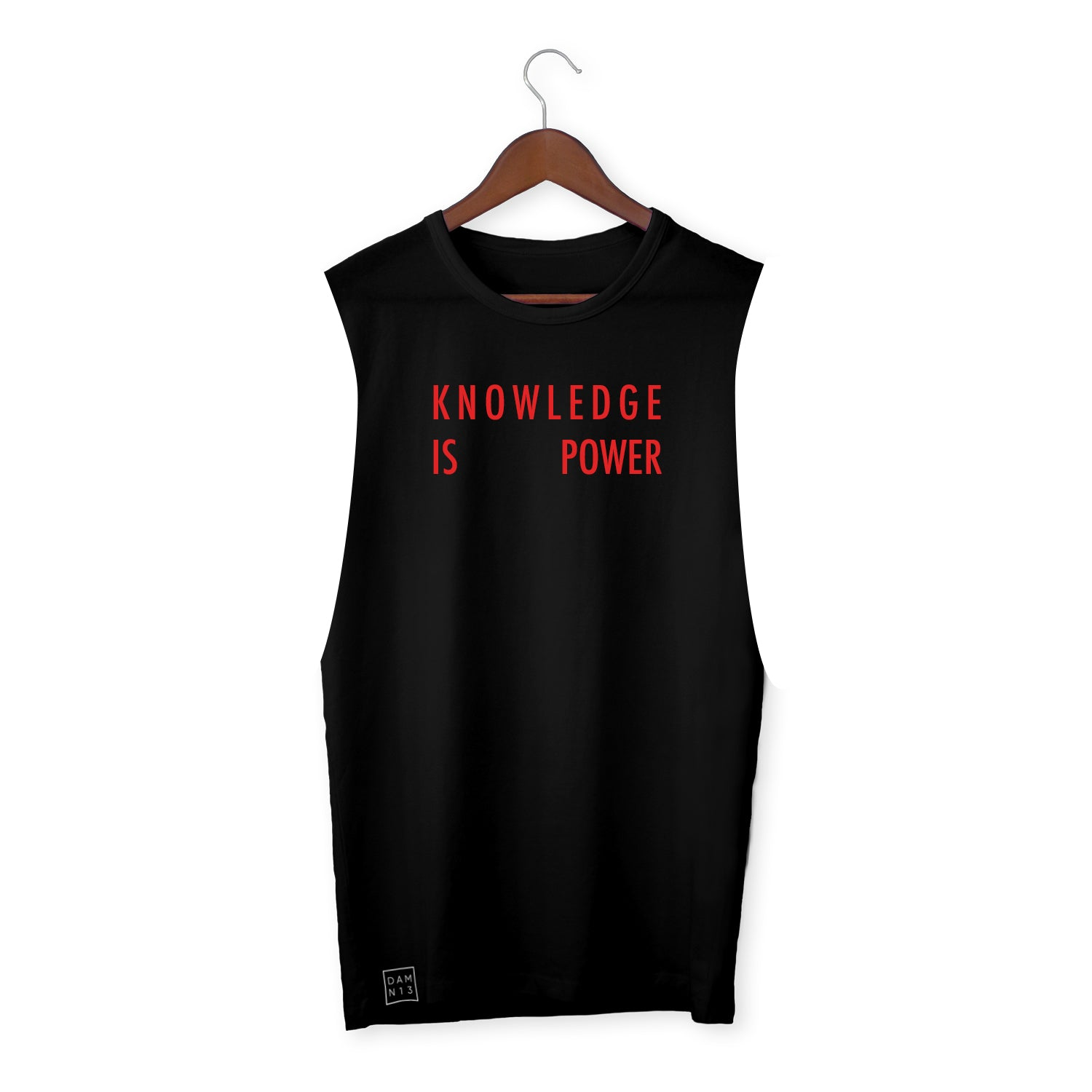 BLACK VEST / KNOWLEDGE IS POWER