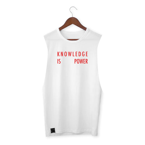 WHITE VEST / KNOWLEDGE IS POWER