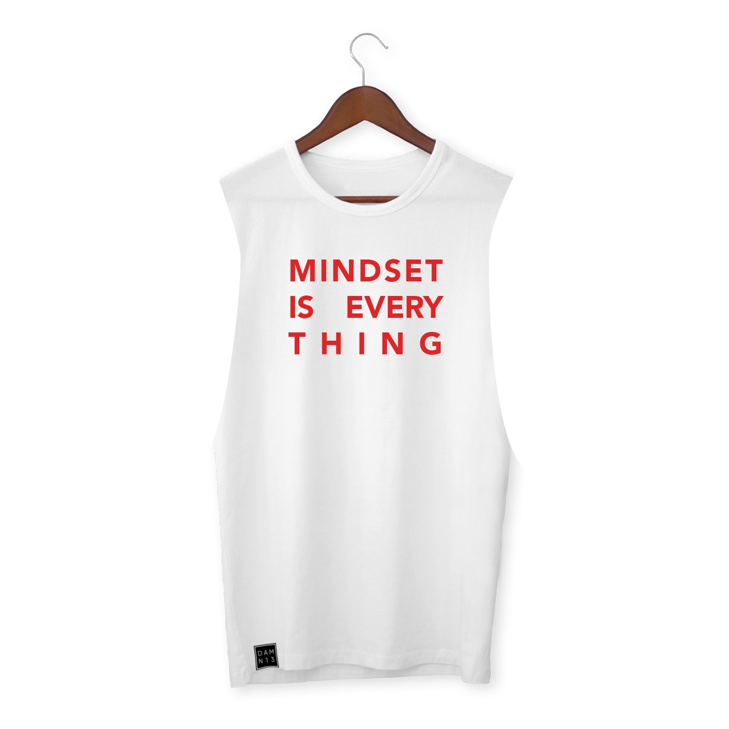 WHITE VEST / MINDSET IS EVERYTHING