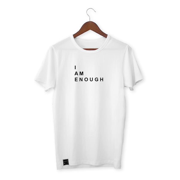 WHITE T-SHIRT / I AM ENOUGH