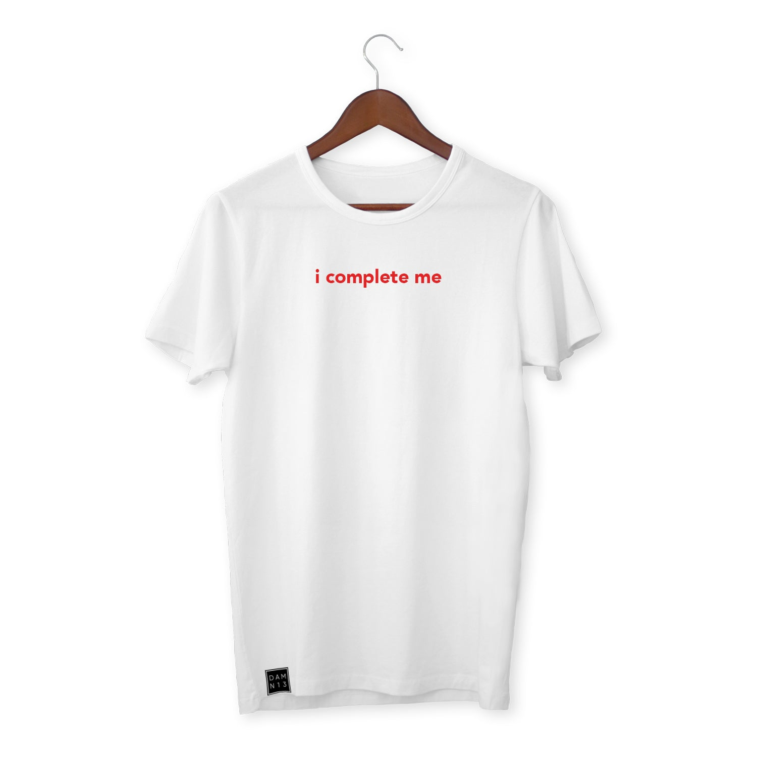 WHITE T-SHIRT / I COMPLETE ME
