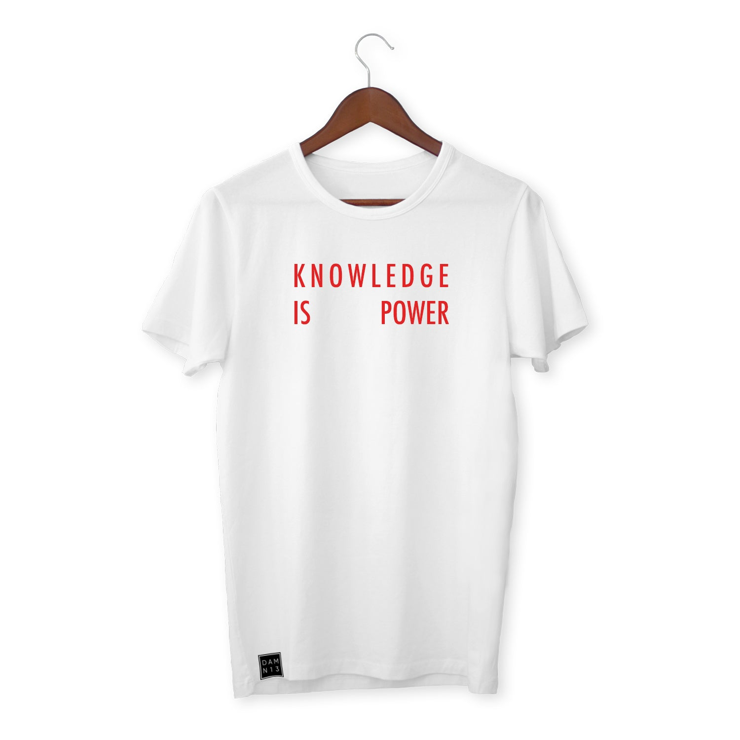 WHITE T-SHIRT / KNOWLEDGE IS POWER