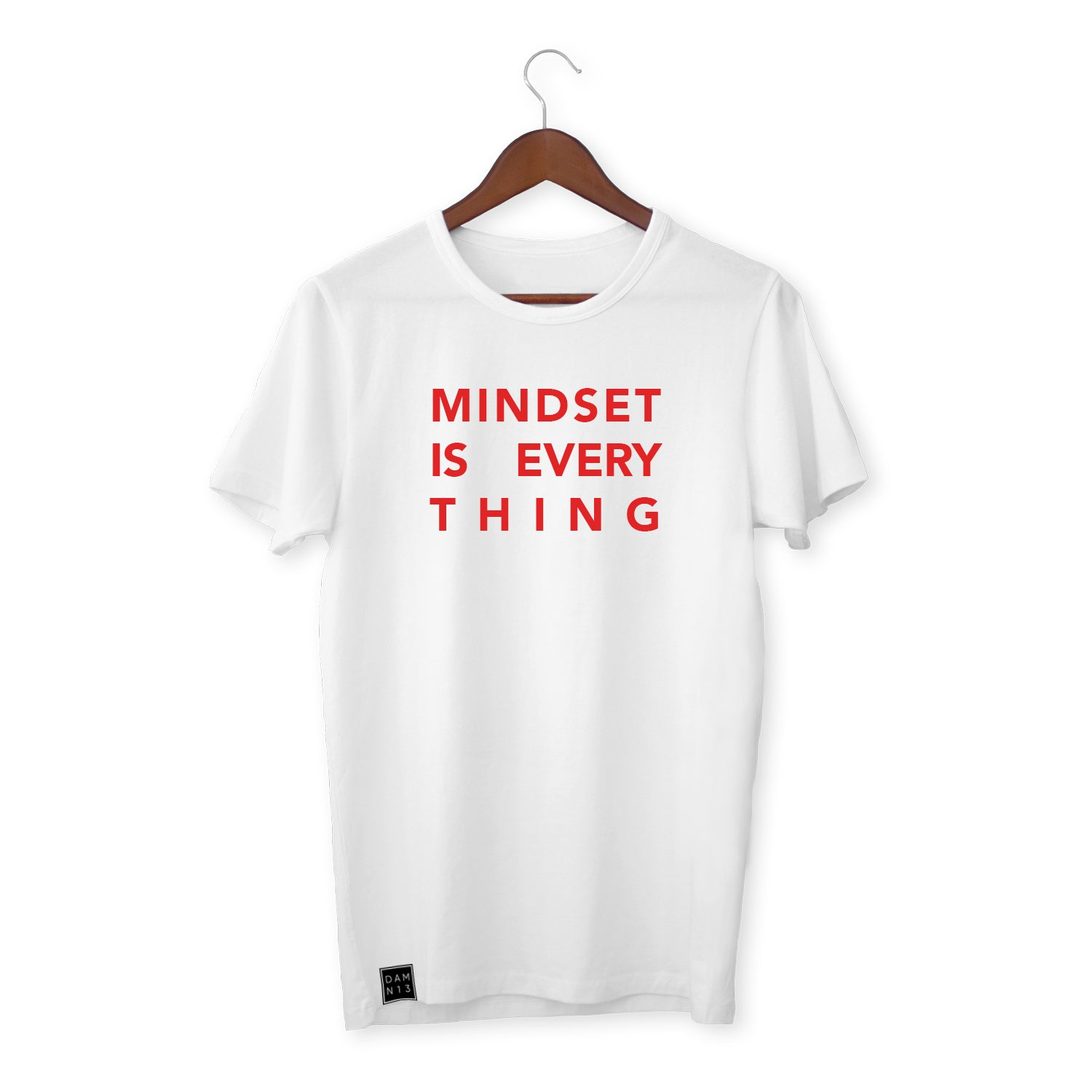 WHITE T-SHIRT / MINDSET IS EVERYTHING