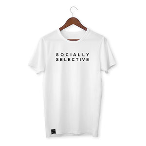 WHITE T-SHIRT / SOCIALLY SELECTIVE