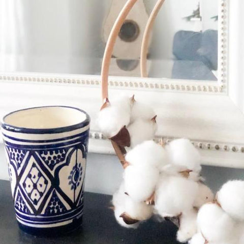 NEROLI, SWEET ORANGE & VANILLA SOY CANDLE IN BLUE & WHITE