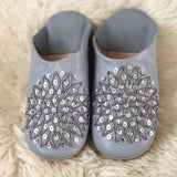 BABOUCHE SLIPPERS IN LIGHT GREY