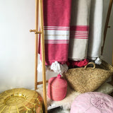 BATTANIA BLANKET IN PINK, WHITE & GOLD