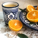 ZWAK TUMBLER IN MOROCCAN BLUE & WHITE