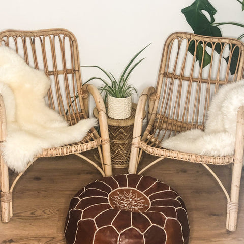 PAIR OF VINTAGE BAMBOO ARMCHAIRS