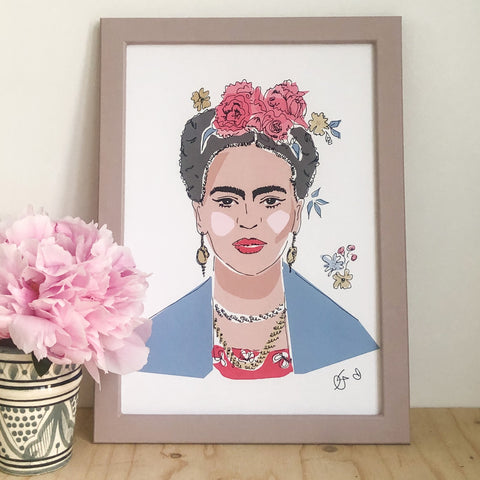 A4 FRIDA PRINT BY GEORGINA TRESTLER