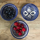 SMALL ZWAK BOWL IN MOROCCAN BLUE & WHITE