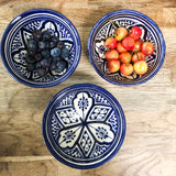 MEDIUM ZWAK BOWL IN MOROCCAN BLUE & WHITE