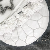 MOROCCAN LEATHER POUFFE IN WHITE