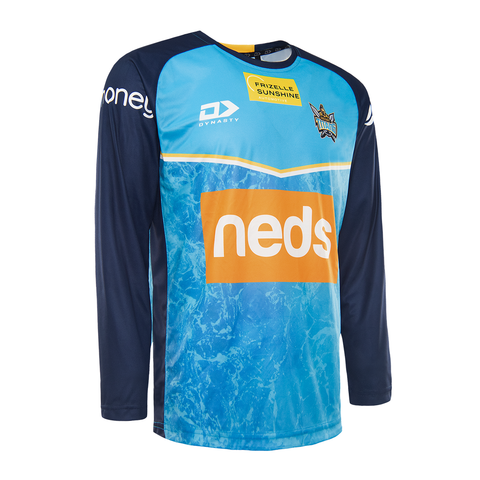 2021 Gold Coast Titans Mens Training Long Sleeve Tee
