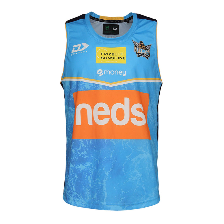 2021 Gold Coast Titans Mens Training Singlet