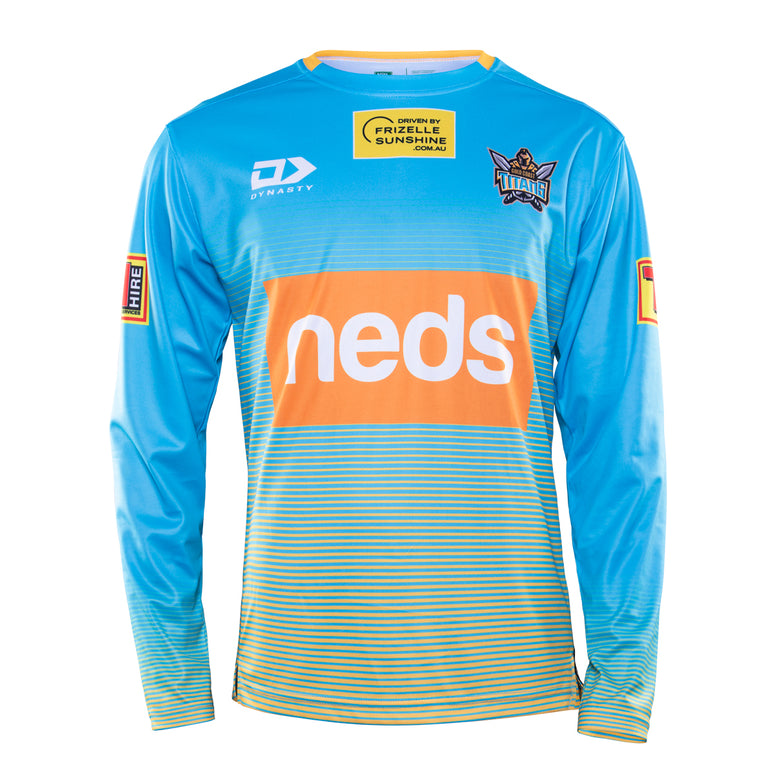 2020 Gold Coast Titans Coaches Training Long Sleeve Tee