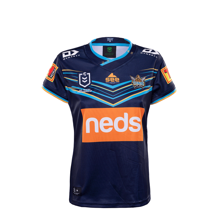 2020 Gold Coast Titans Ladies Replica Home Jersey