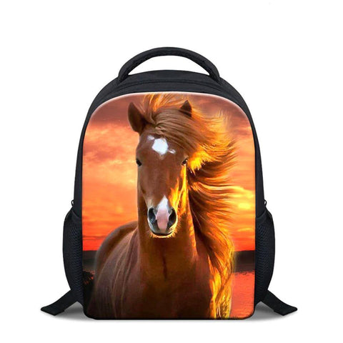 Expressiffy's custom kid's backpack with a horse on it