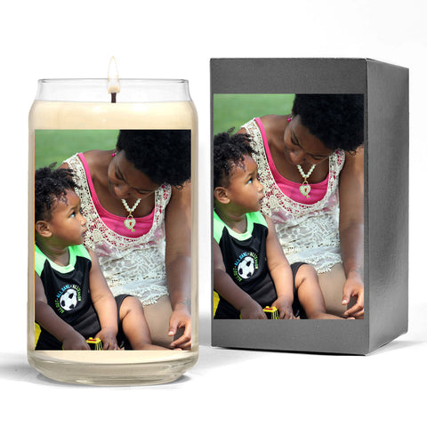 Scented Candle with Photo of Mom and Child