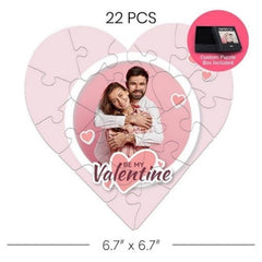 A 22 piece heart shaped puzzle
