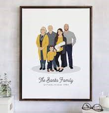 a personalized family photo in a frame