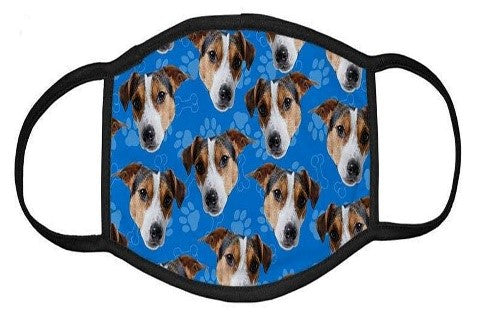 Custom Face mask with Jack russell pictures on it
