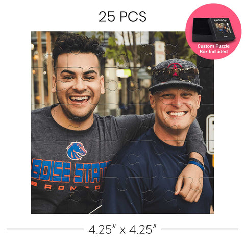 Photo of two men on a personalized jigsaw puzzle