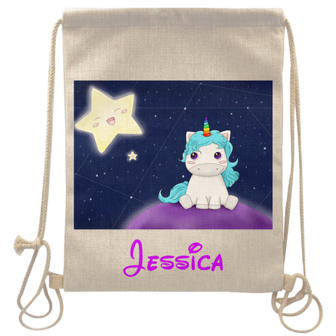 customized linen tote bag